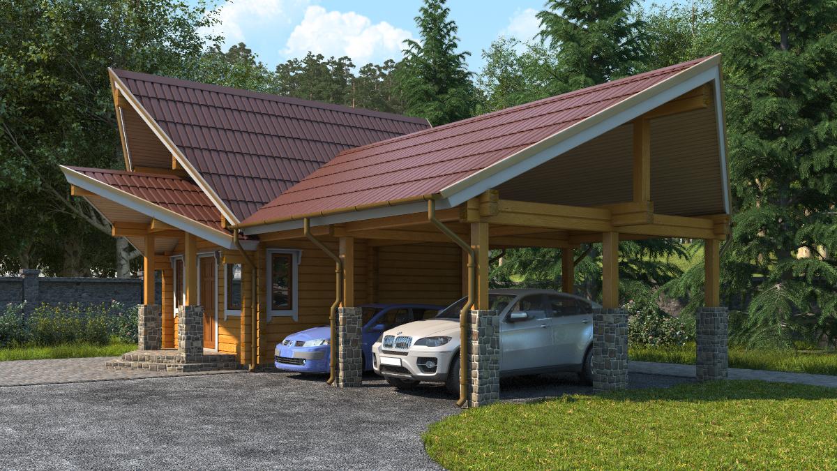 Одноэтажные дома с гаражом под ключ